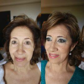 maquillada por Luisa Portales maquilladora en Sevilla