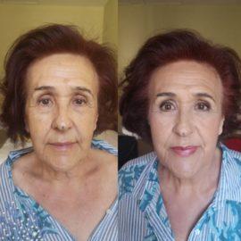 Invitada de evento, maquillada por Luisa Portales. Destellos. Sevilla